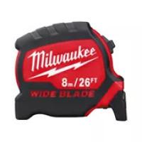 Рулетка Milwaukee Премиум с широким полотном  8м-26фт (футовая)