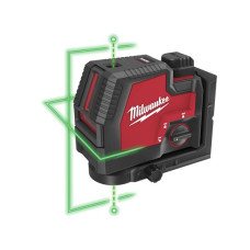 Акумуляторный линейный лазерный нивелир с двумя точками Milwaukee L4 CLLP-301C