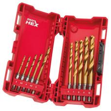 Набор Сверл по металлу shockwave Milwaukee HSS-G TIN RED HEX (10 шт)