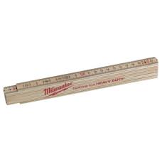 Складной метр деревянный тонкий Milwaukee