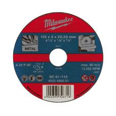 Отрезной диск Milwaukee по металлу SCS 41 / 230 X 3 X 22.2 мм