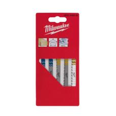 Набор полотен для лобзика с T-образным хвостовиком Milwaukee 4932345825
