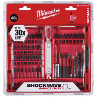 Набор бит+сверла Milwaukee для шуруповерта SHOСKWAVE 48 шт