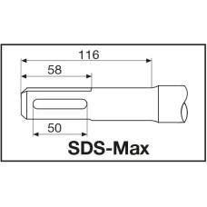 Долото широкое Milwaukee SDS-Max 400 X 50 мм