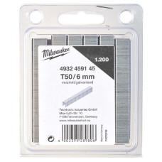 Скобы для степлера Milwaukee 6 мм 1200 шт
