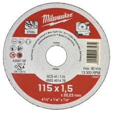 Отрезной диск Milwaukee по металлу SCS 41 / 115 X 1.5 X 22 мм