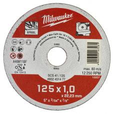 Отрезной диск Milwaukee по металлу SCS 41 / 125 X 1 X 22 мм