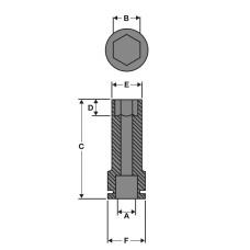 Головка Milwaukee ShW ½˝ SKT 8 мм