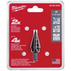Сверло ступенчатое Milwaukee 4-20 мм шаг 2 мм